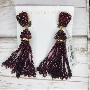 Kendra Scott Cecily Maroon Jade Earrings
